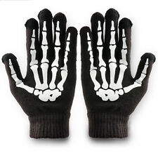Smart Phone Tablet Touch Screen Gloves Women Men Skeleton Winter Warm Mitten