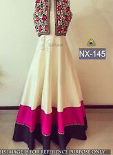 DESIGNER LATEST PARTY WEAR UNSTITCHED GOWN WITH SHRUG
