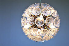 60er 70er  Sputnik  Ice Glass Chandelier  Lampe Lamp