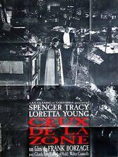 Affiche 120x160cm CEUX DE LA ZONE (1933) Loretta Young, Spencer Tracy R2012 TBE