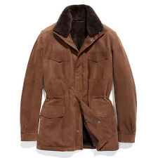 Loro Piana Men's Rare Fur Lined Traveller Suede Jacket Size 50 Retail $11,495.00