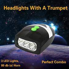 3 LED de vélo Lumière équitation Avertissement Phare Cloche Avec Corne neuf