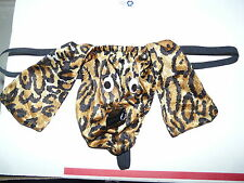 Men G String Thong Pouch Leopard Dog Exotic Dancer Sexy Underwear NEW