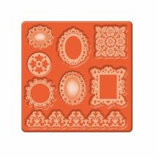 MOD PODGE SILICONE MOLD EMBELLISHMENTS OVAL ROUND SQUARE FRAMES & BORDER 24890