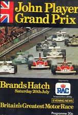 John Player Grand Prix 1974 Brands Hatch official programme + lap chart