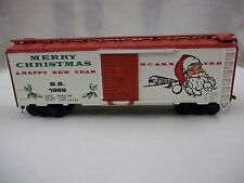 ATHEARN BEV BEL 1989 HO SCALE CHRISTMAS BOX CAR LIMITED EDITION USED