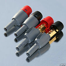 4 DELTRON BFA AMP SPEAKER PLUGS for Arcam Linn Cyrus