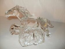 """GLASS HORSE STATUE SCULPTURE FIGURINE 9 1/2"""" x 6 1/2"""" Pre Owned FREE SHIPPING"""