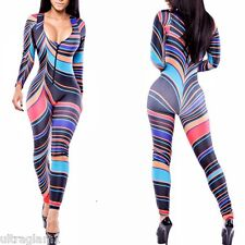 COLORFUL PRINT Lycra CATSUIT/BODYSUIT/DANCE COSTUME/DRAG QUEEN 8-14 (Maybe 16)
