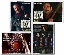 THE WALKING DEAD NEGAN & Lucille Season 6 - 2 Card PROMO - Jeffrey Dean Morgan