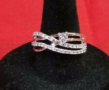Ladies Avon Signature Brilliance Layered CZ Ring, Size 8,