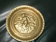 Vintage brass plate Small brass plate decorative made of solid brass