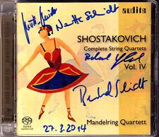 SACD MANDELRING QUARTETT Signiert SHOSTAKOVICH Quartet 10 12 14 Streichquartett