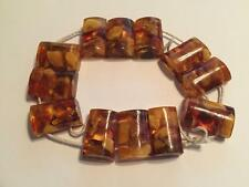 Vint Reconstituted Honey Amber Chunks of Egg Yolk Stretch Bracelet 2 Restring
