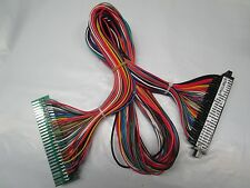 """NEW JAMMA PCB HARNESS 36"""" POWER & ARCADE CONTROL PANEL EXTENSION CABLE PCB SWAP"""