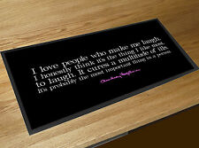 Audrey Hepburn People who make me laugh quote bar runner Cocktail Bars