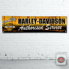 1200 x 305mm HARLEY DAVIDSON workshop garage banner