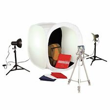 NEW Square Perfect 1050 Photo Studio Light Box Set Platinum 2Tents 8 Background
