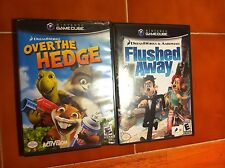 Two(2) Gamecube games Flushed Away (booklet) & Over the Hedge GC L@@K Kids games
