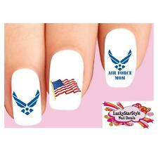 Waterslide Nail Decals Set of 20 - USAF United States US Air Force Mom Assorted