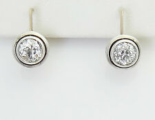 Antique Russian 14k Gold 1.67 TCW Old Mine Diamond Earrings With GIA Cert D279