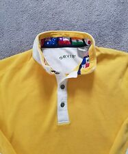 ORVIS MENS RUGBY POLO SHIRT LARGE L SWEATER SPRING WORLD FLAGS CASUAL DRESS NICE