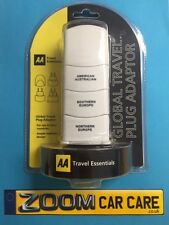 AA Travel Essentials Global Travel Plug Adaptor - USA, Australia, Europe - NEW
