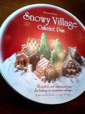 Nordic Wear Pan, SNOWY VILLAGE, 6 miniature cottages, from William Sonoma