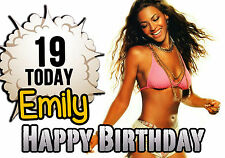 Personalised Beyonce Birthday Greeting Card A5