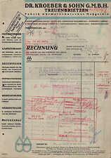 TREUENBRIETZEN, Rechnung 1937, Fabrik wärmetechnischer Meßgeräte Dr. Kroeber