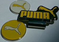 Brand New Double Yellow/White Puma Golf Ball marker with hat clip!!