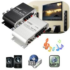 Mini Coche Moto Hogar Hi-Fi Estéreo Amplificador Amp Para mp3 iPod PC DVD CD 12V