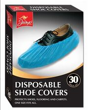 30 Pc Disposable Plastic Overshoes Shoes Covers Carpet Floor Shoe Protectors