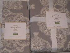 Pottery Barn Duvet Cover King/Cal King Alana Medallion+ 4 Standard Shams Gray
