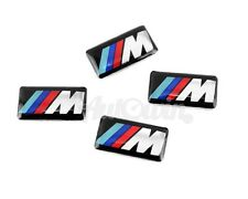 BMW M3 M4 M5 M6 M7 X5M Series Set of 4x Small ///M Stick-on Rims Emblem 4pcs.
