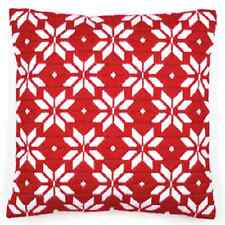 Red Geometric - Long Stitch Printed Canvas Cushion Kit-Cross Stitch-Tapestry