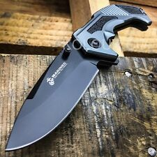Mtech USMC Spring Assisted Open Marines Survival Tactical Folding Pocket Knife