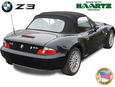 BMW Z3 1996-2002 Convertible Soft Top Replacement Black Haartz Twillweave