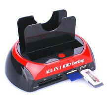 "Dual 2.5""/3.5"" IDE SATA HDD Hard Drive Disk Docking Station All In 1 USB Useful"