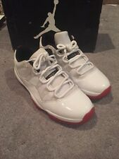 2012 NIKE AIR JORDAN XI 11 LOW CHERRY WHITE VARSITY RED sz 12 iv v vi 3 4 5 6