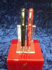 Stipula Vedo small Ballpoint Pen in Black Onyx or Marbelized Red