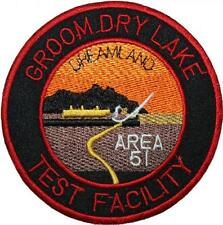 Area 51 Groom Dry Lake Test Facility Badge Embroidered Patch Sew/Iron-on 9cm