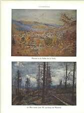 WW1 Metzeral And Fecht Valley Forest Destroyed Artwork