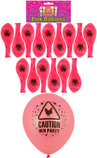 15 Fancy Girls Chick Night Out Pink Balloon Caution Hen Party Theme Accessories