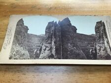 Vintage Stereoscopic Slide - Beetin The Rocks Garden Of Gods