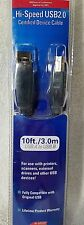 APC HI-SPEED USB 2.0 PRINTER DEVICE CABLE 10 FT A MALE TO B MALE