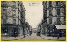 cpa RARE 94 - VINCENNES Rue DOHIS Avenue de PARIS Sté Achille HAUSER Boulangerie