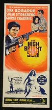 DAYBILL MOVIE POSTER - ORIGINAL - HIGH BRIGHT SUN - DIRK BOGARDE
