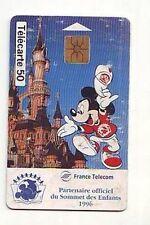 carte telephonique france telecom -  50 unités - mickey sommet des enfants