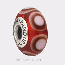 Authentic Pandora Sterling Silver Murano Red Stepping Stones Bead 790909